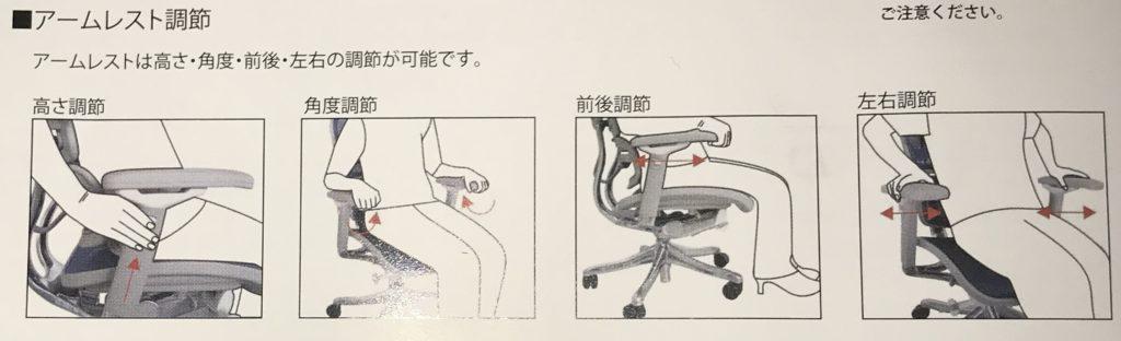 アームレスト機能紹介