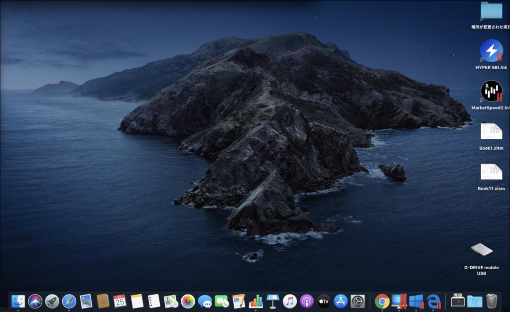 MacのデスクトップからWindowsで立ち上がる