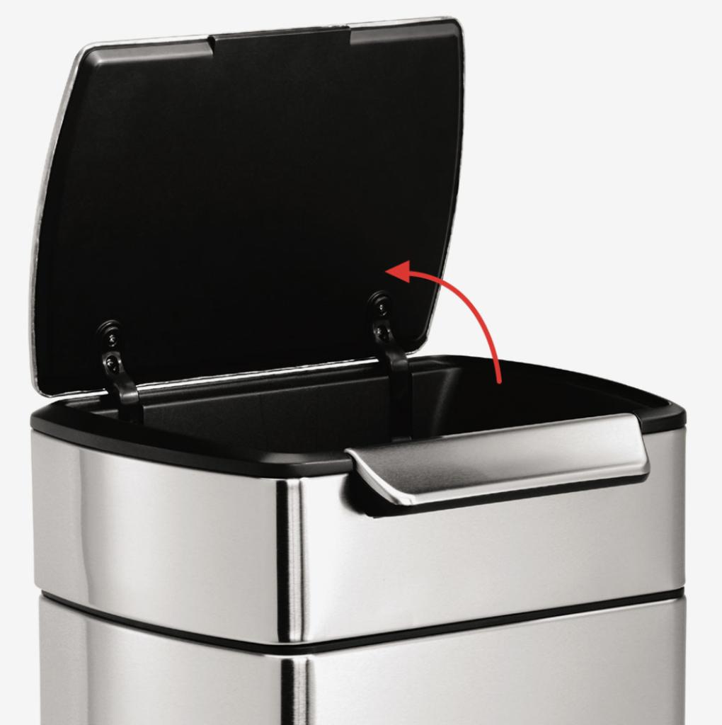 様々なタイプがあるシンプルなゴミ箱